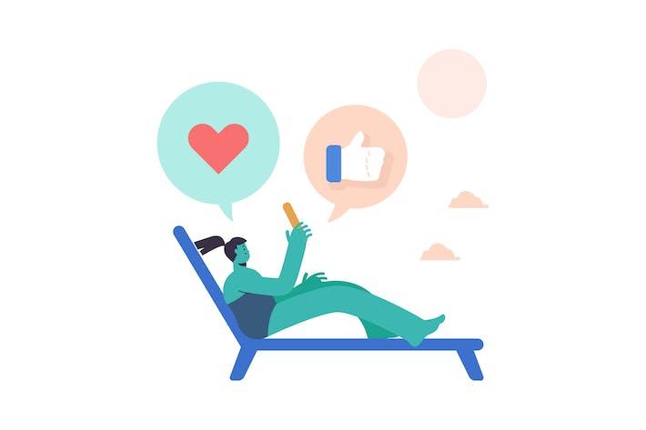 Thumbnail for Плоская иллюстрация социальной сети