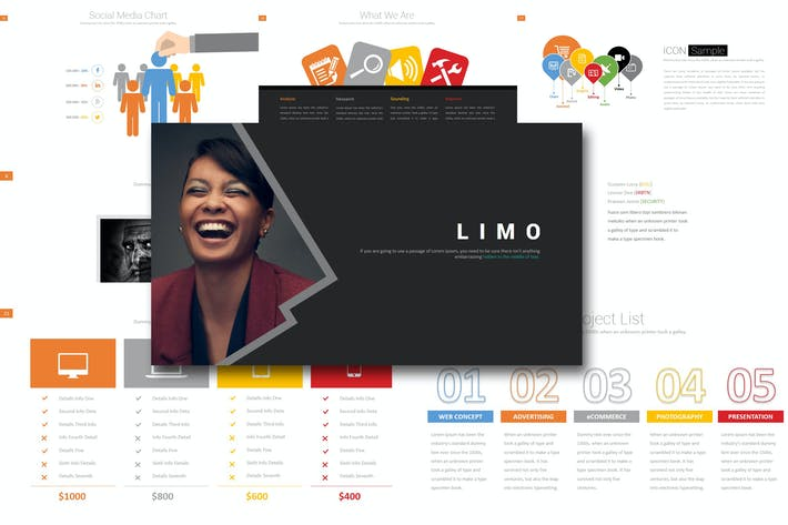 Thumbnail for Limo - Powerpoint Template