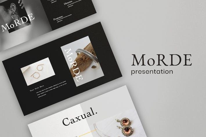 Thumbnail for MoRDE - Minimal Business Keynotes