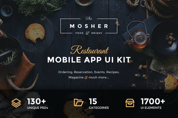 Thumbnail for Mosher - Restaurant Mobile App UI Kit