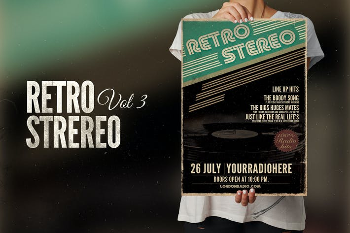 Thumbnail for Retro Stereo Flyer