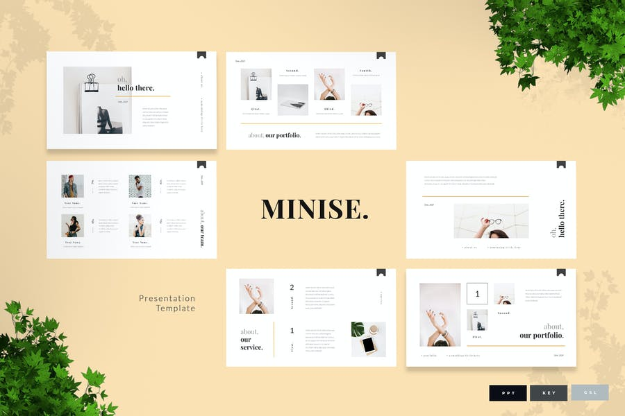 Minise - Minimal Presentation Template