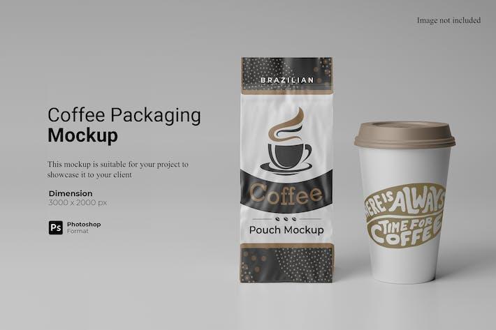 Kaffee Verpackung Mockup
