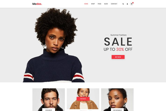 Thumbnail for Modaz | Minimalist eCommerce HTML Template