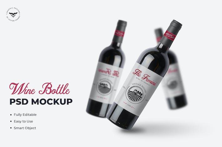 Thumbnail for Wine Bottle Mockups Template