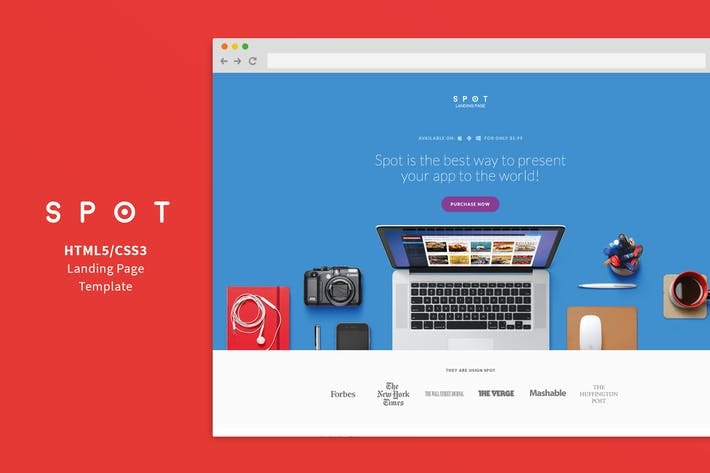 SPOT App Service Landing Page By Shegy On Envato Elements - Website landing page templates