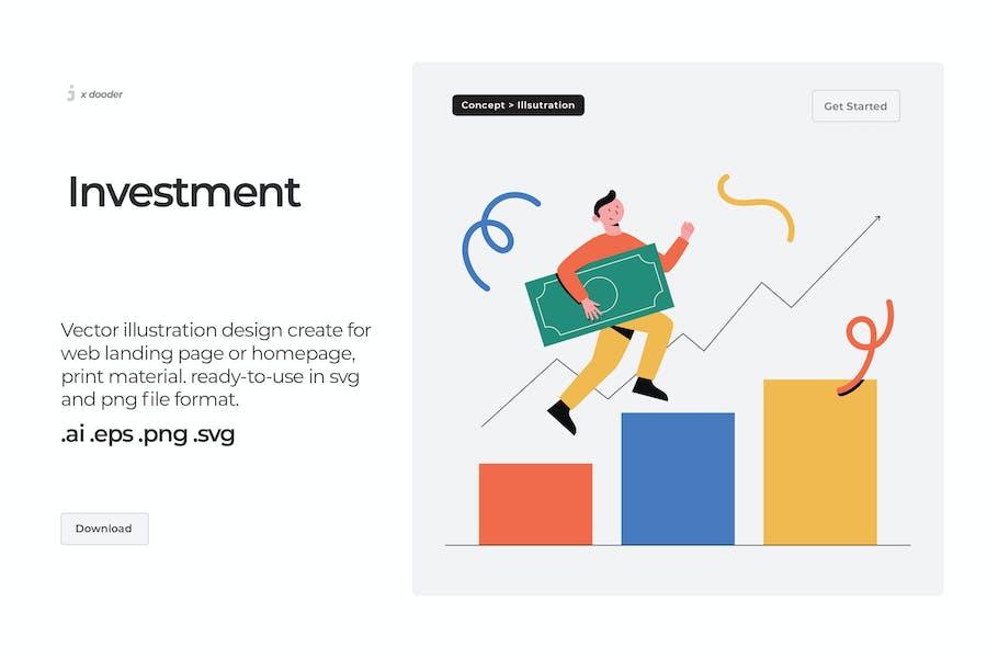 Dooder - Ilustración de inversión en crecimiento
