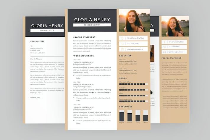 Thumbnail for Senior Editor Resume Designer
