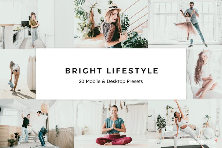 Thumbnail for 20 Bright Lifestyle Lightroom Presets & LUTs