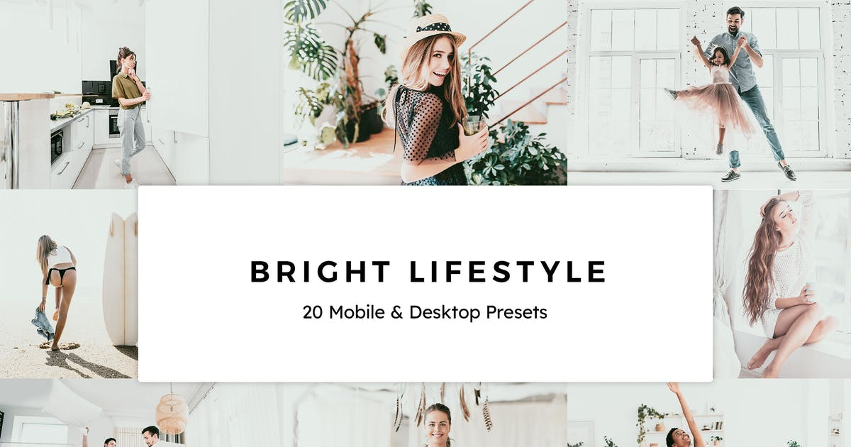 Download 20 Bright Lifestyle Lightroom Presets & LUTs by sparklestock