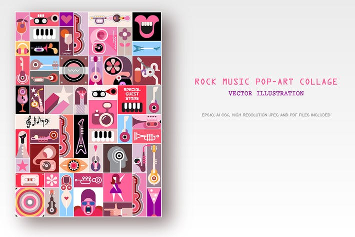 Thumbnail for Rock Concert Pop-Art Collage