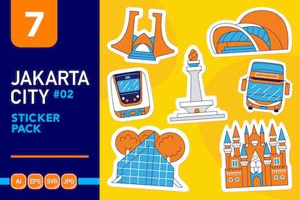 Jakarta City #02 Sticker Pack