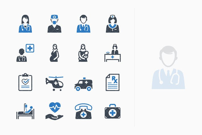 Medical Services Icons Set 1 - Blue Series