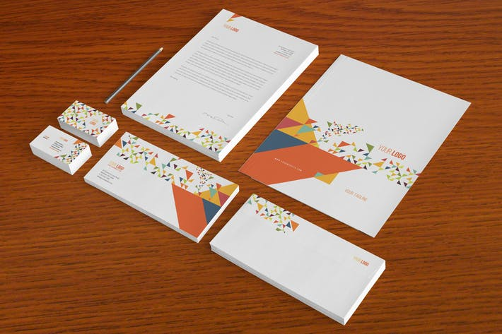 Cover Image For Colorful Triangles Stationery