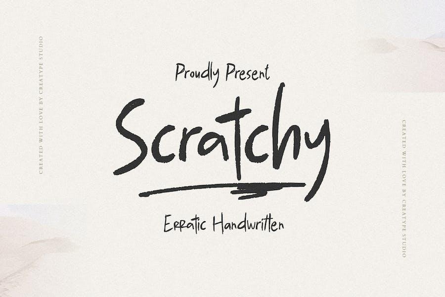 Scratchy Erratic Handwritten