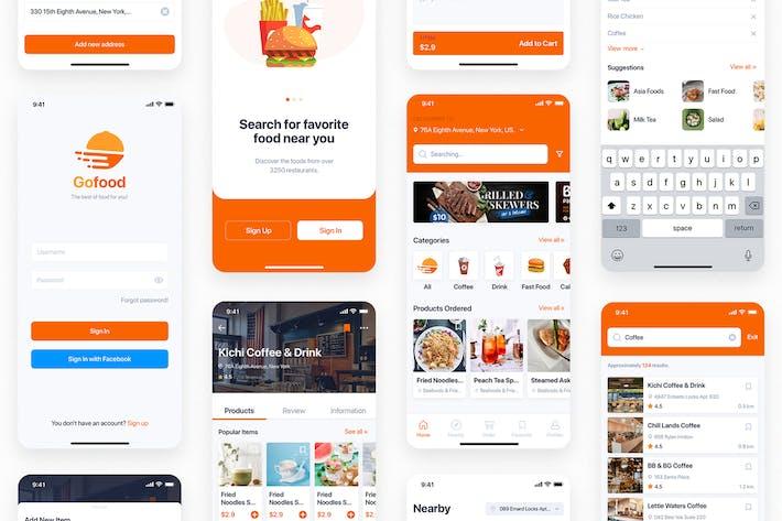 Thumbnail for GoNeats - Набор пользовательского интерфейса для доставки еды для Adobe XD