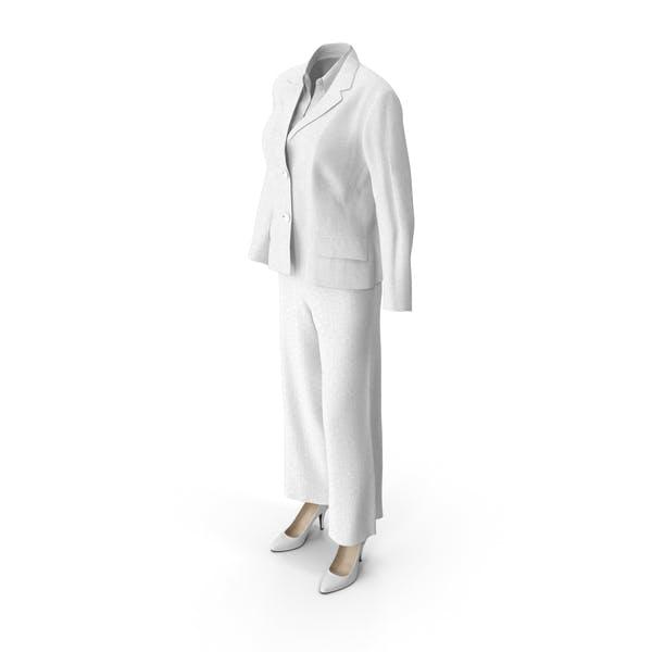 Женский деловой костюм Белый