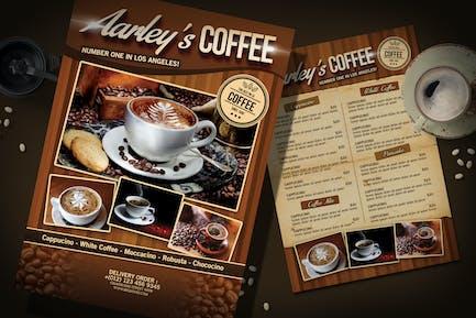 Kaffee-Menü-Flyer