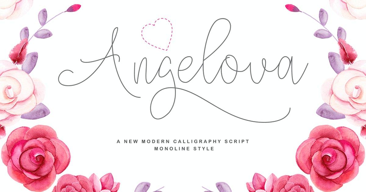 Download Angelova Monoline Script by IanMikraz