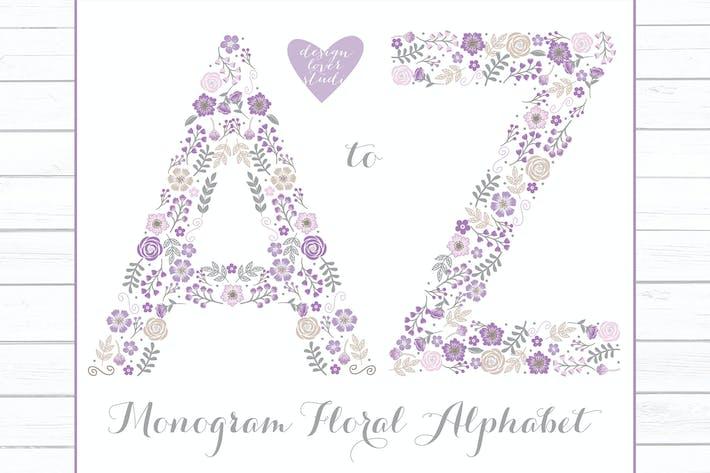 Cover Image For Alphabet A_Z Purple, monogram