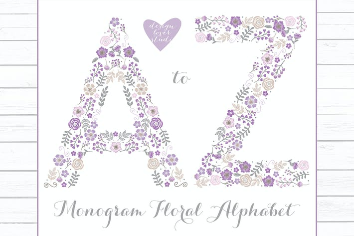 Thumbnail for Alphabet A\_Z Violett, monogramm