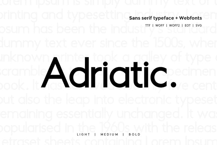 Thumbnail for Adriatic - Modern Typeface + WebFonts