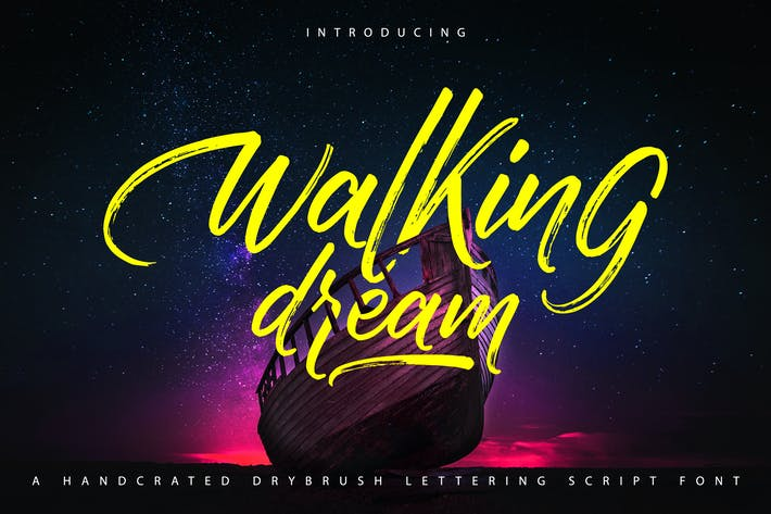 Thumbnail for Walking Dream | A Handcrafted Drybrush Lettering