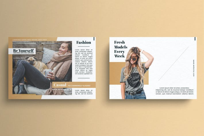 Thumbnail for Fashion Postcard Template