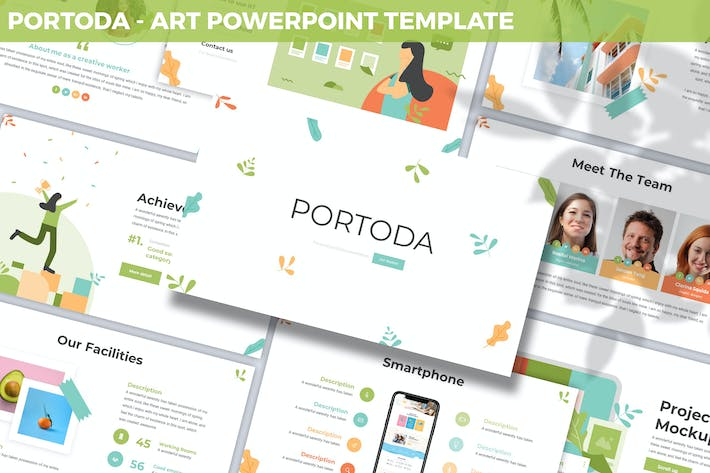 Thumbnail for Portoda - Арт Powerpoint Шаблон