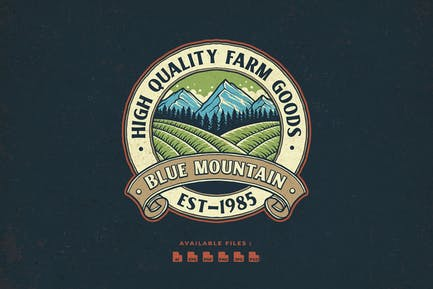 Montain Vintage Badge Logo