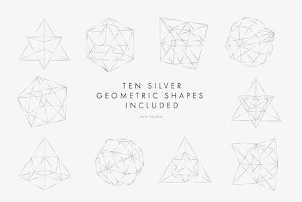 Silberne geometrische Muster