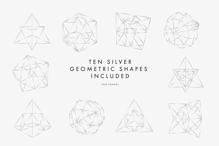 Thumbnail for Silberne geometrische Muster