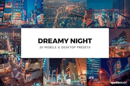 20 Dreamy Night Lightroom Presets & LUTs