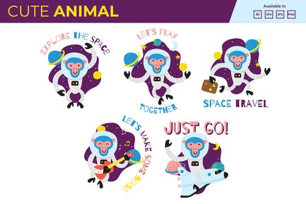 Space Monkey collection JPG PNG