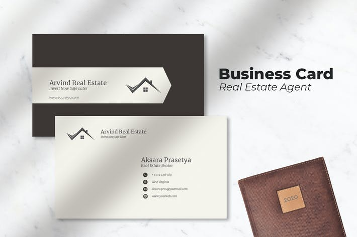 Thumbnail for Real Estate Agent - Business Card