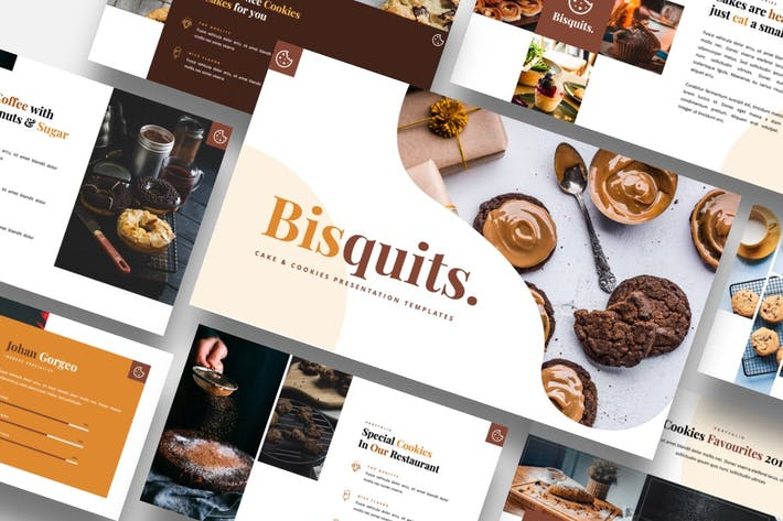 Thumbnail for Bisquits - Cake & Cookies Powerpoint Template