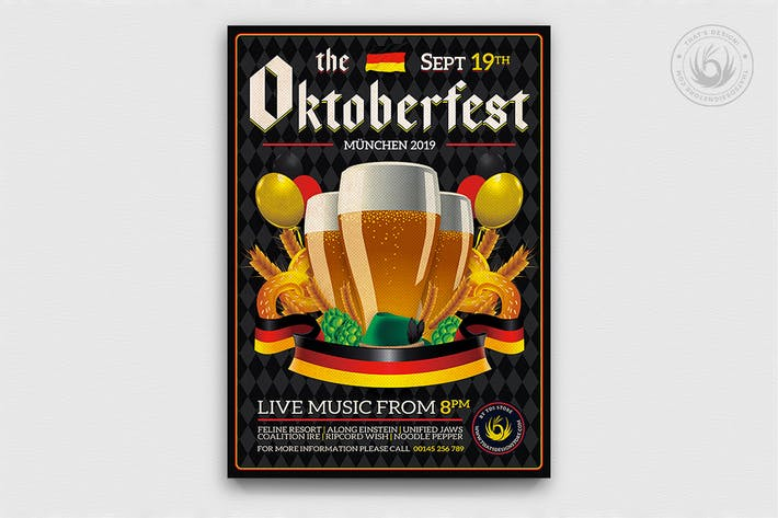 Thumbnail for Oktoberfest Flyer Template V12