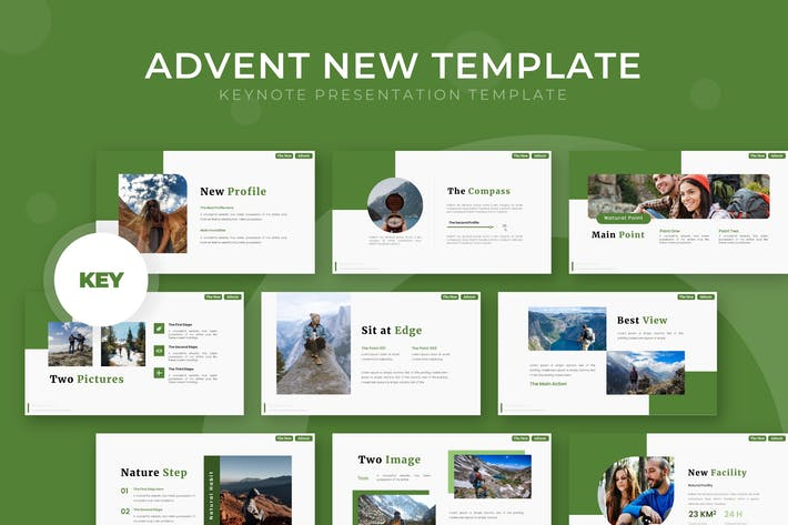 Thumbnail for Advent New - Keynote Template