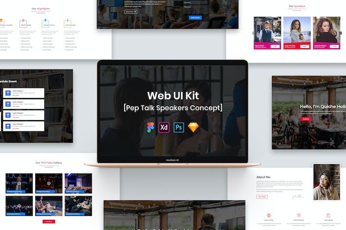 Thumbnail for Pep Talk Speakers Web UI Kit