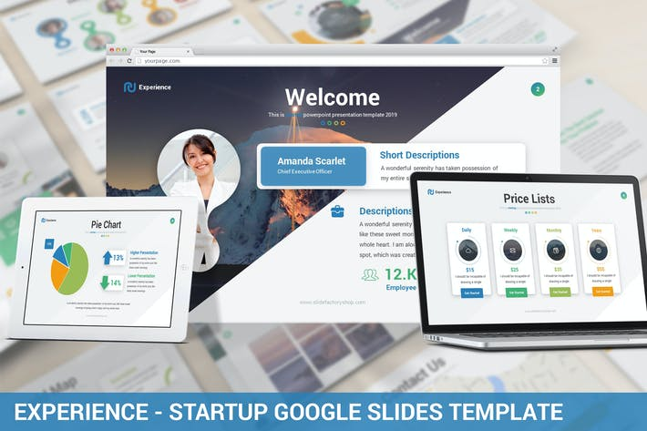 Thumbnail for Experience - Startup Google Slides Template