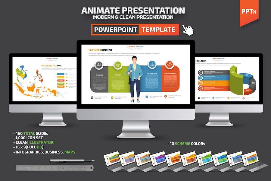 Animate Powerpoint Presentation Template