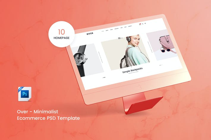 Thumbnail for Over - Ecommerce PSD Template