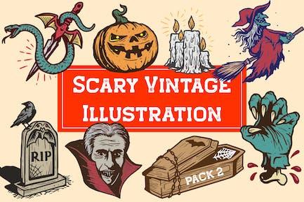 Scary Vintage Illustration Pack 2
