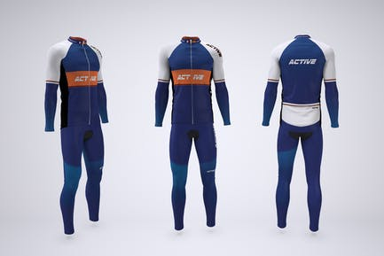 Cycling Set Jersey and Tights Mock-up