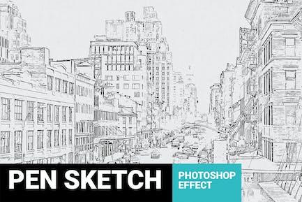 Pen Sketch Photoshop Plugin