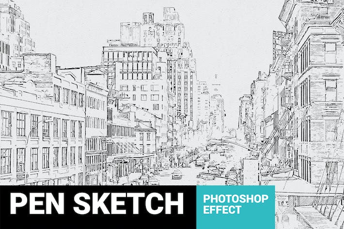 Thumbnail for Pen Sketch Photoshop Plugin