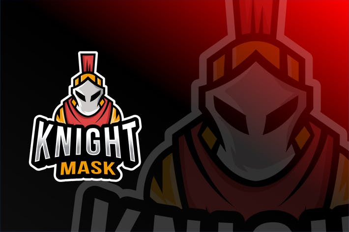 Cover Image For Knight Mask Esport Logo Template