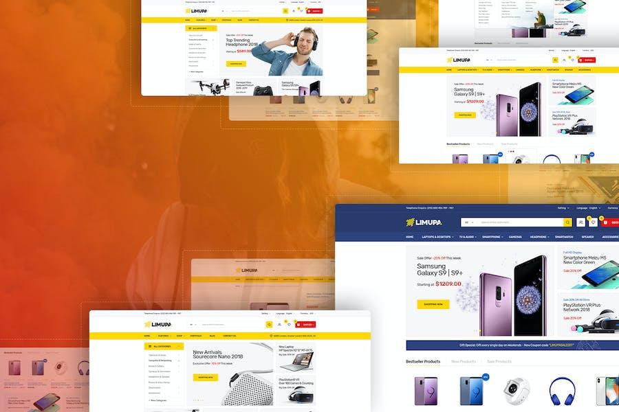 Limupa - Electronics & Technology Shopify Theme