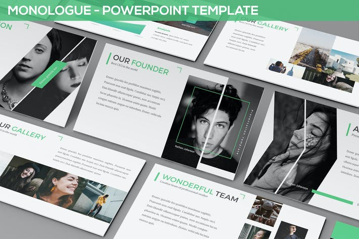 Thumbnail for Monologue - Powerpoint Presentation Template