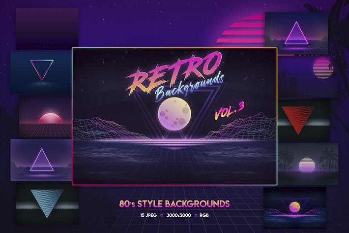 Thumbnail for 80s Retro Backgrounds vol.3
